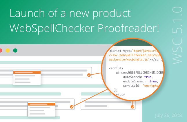 WebSpellChecker 5.1.0 Release: Launch of a new product WebSpellChecker Proofreader!