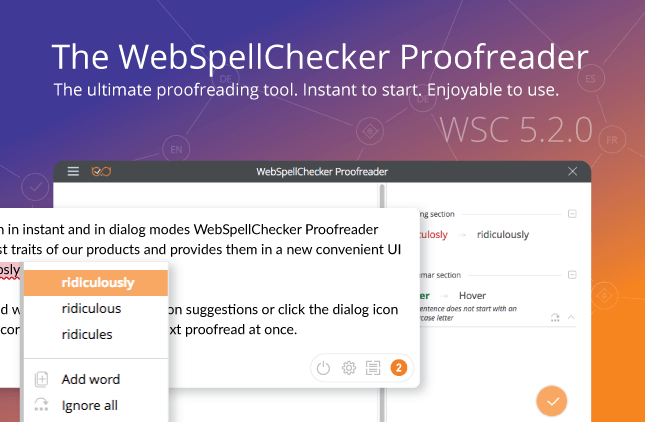 It's Official: the All-new WebSpellChecker Proofreader is Released!