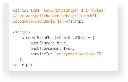 Adding configuration of the WebSpellChecker Proofreader with 'autoSearch' parameter. It automatically enables proofreader on focus.