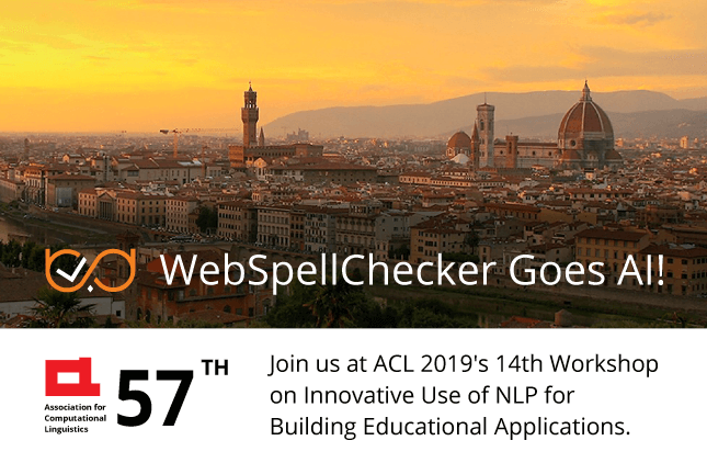 WebSpellChecker at ACL 2019!