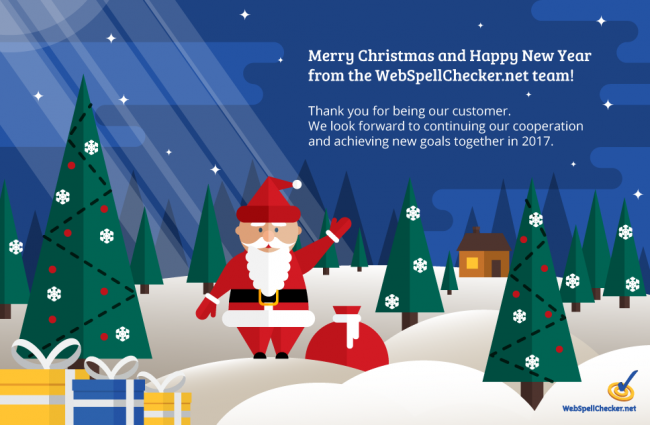 Merry Christmas and Happy New Year 2017 from WebSpellChecker