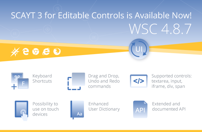 New SCAYT 3 for Editable Controls