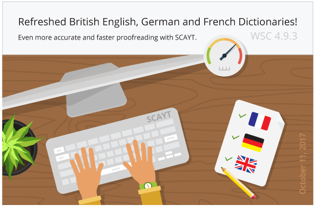 WebSpellChecker 4.9.3: Accurate and Faster Proofreading. British English, French and German Dictionaries Updates.