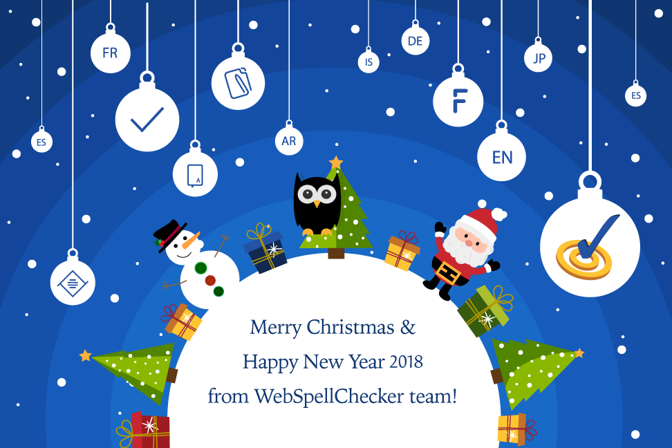 Merry Christmas and Happy New Year 2018 from WebSpellChecker